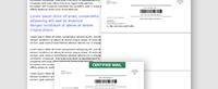 Certified Self Mailer 8.5 x 11
